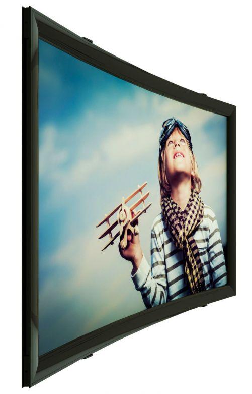 152x95 cm formato 16:10 Schermo a Cornice Curvo FASHION CURVED (165x108)