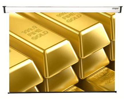 155x190 cm formato 1:1 Schermo Motorizzato NEW GOLD (173 cm)