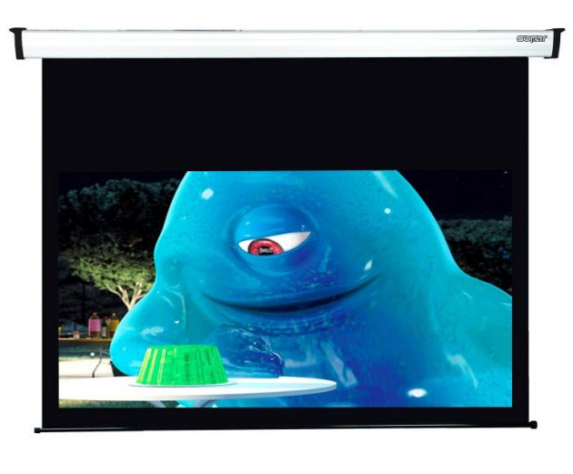 160x90 cm formato 16:9 schermo a motore bordato NEW GOLD NEMA (178 cm)
