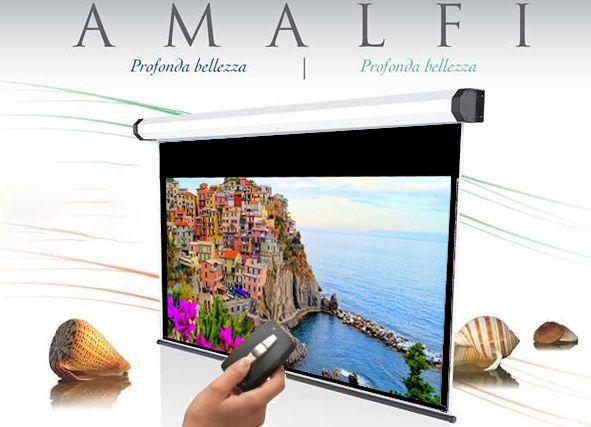 280x158 cm formato 16:9 schermo a motore Amalfi bordato radiocomando integrato (299,5 cm)