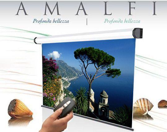350x265 cm formato 4:3 schermo a motore Amalfi radiocomando integrato (369,5 cm)