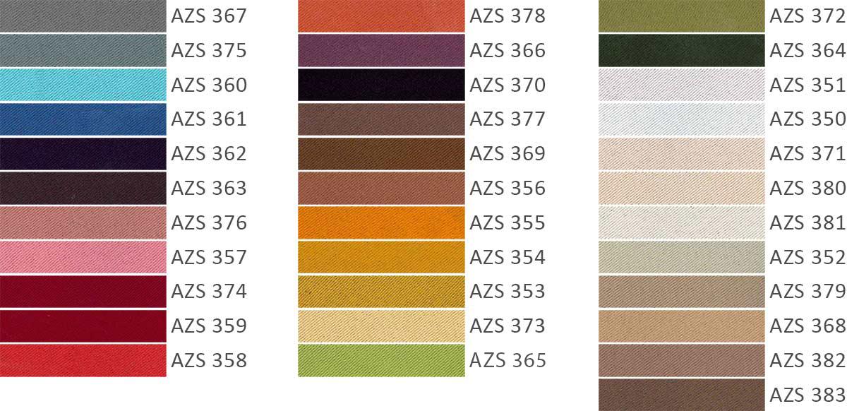 Colorazioni tessuto oscurante